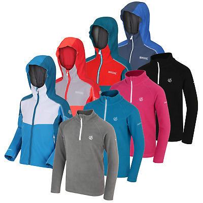 Regatta Dare2b Kids Boys Girls Hoodie Softshell Fleece Jacket Sale RRP 40.00