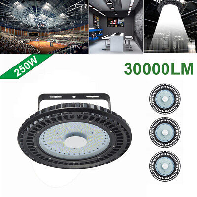 4X 250W UFO LED High Bay Light lamp Factory Warehouse office Roof Shed Lighting