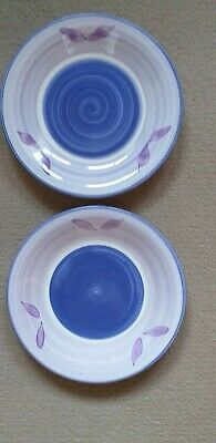 "Two Lilac Leaf Side Plates 8"" Diameter from Woolworths."