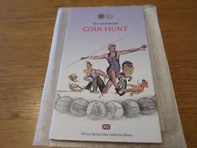 The Great British Coin Hunt Olympic Fifty Pence 50p Sports Coin Collector Album