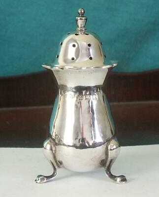 MAPPIN & WEBB Solid Silver Three Footed Pepperette - Bham 1925