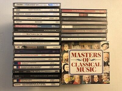 Large Classical Cd Lot Of 26 & Masters Of Classical 10 Cd Box Set!
