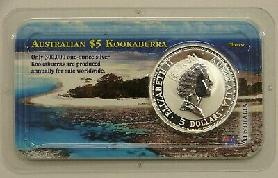 Australia 1991 - 1 oz. .999 Silver Kookaburra $5 - UNC -Sealed in Littleton Pack
