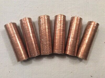1971 Decimal Half Penny 1/2p coins Mint Sealed Six Rolls of 50 coins,300 Coins.