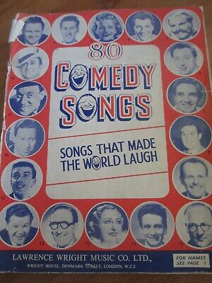 Comedy Songs, Songs that made the world laugh Music Song boook