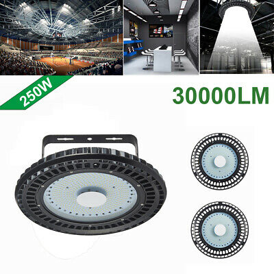 3X 250W UFO LED High Bay Light lamp Factory Warehouse office Roof Shed Lighting
