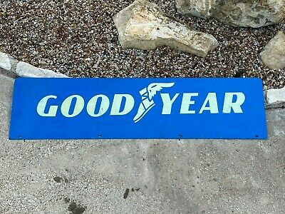 """Vintage GOODYEAR 48"""" Metal Sign ~ Service Station Tire Shop Oil Gas Advertising"""