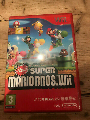 New Super Mario Bros (Nintendo Wii) Complete ~ PAL ~ FREE FAST POST