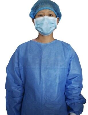 10 Pack / HEAVY Non-woven Surgical Gown  Disposable Suit *SAME DAY SHIPPING*