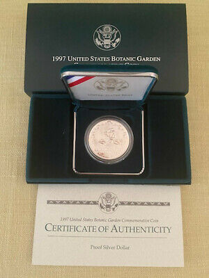 1997  United State Botanic Garden Commerative Proof Silver Dollar