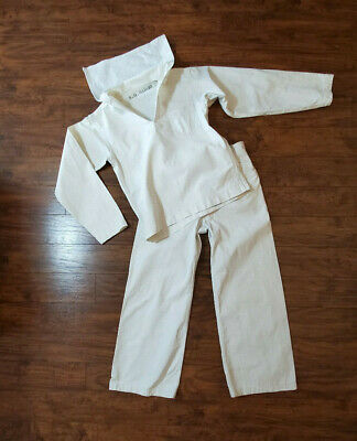 Original WWI US Navy White Cotton Uniform NAMED