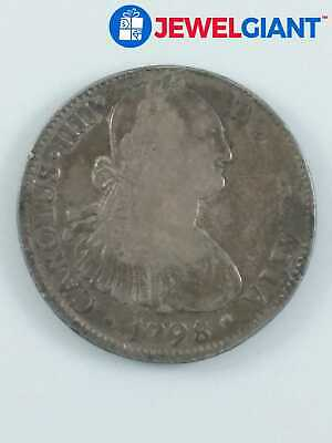 1798 8 REALES %90 SILVER COIN MEXICO SPANISH COLONY HARD TO FIND BULLION #bj027