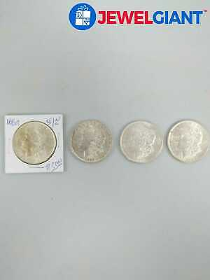 1888-1890 US MORGAN 90% SILVER DOLLAR COINS LOT OF 4 NICE SET COLLECTIBLE #bi991
