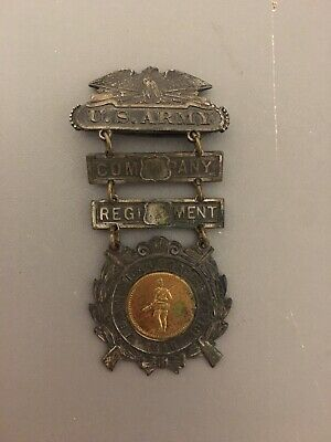 U.s. Army Company Regiment 1916 U.s.a. Mexican Border Service Pin Medallion
