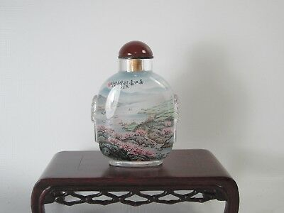 TOP! Chinese Glass Inside Painting Snuff Bottle