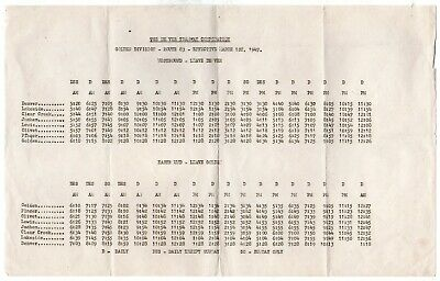 Denver Tramway DT Golden Division Interurban Public Timetable PTT March 1, 1947