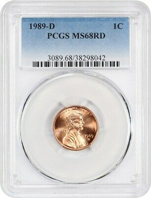 1989-D 1c PCGS MS68 RD - Lincoln Memorial Small Cents (1959-2008)