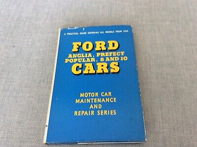 Vintage Ford - Anglia Prefect and Popular Maintenance Book 4 th Ed 1964