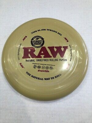 NEW Raw Natural Unrefined Rolling Papers Frisbee Rolling Tray
