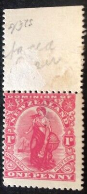 New Zealand 1909 1d Rose Carmine Stamp Mint Hinged Loose Perfs