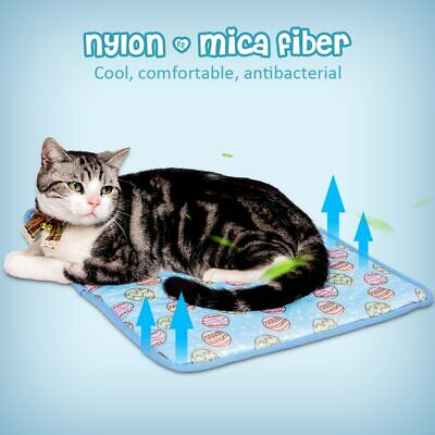 Pet New Summer Cooling Mat Cold Pad Comfortable Cushion For Dog Cat Puppy Uk