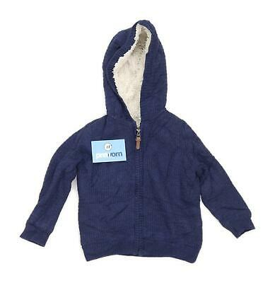 Marks & Spencer Girls Blue Zip Up Jacket Age 2-3
