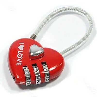 Home Anti Theft Security Heart Shape Decoration Office For Luggage Password Lock