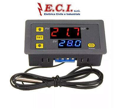 W3230 Dc 12V Termostato Elettronico Display Digitale Per Controllo Temperatura