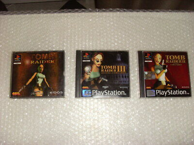 TRILOGIA TOMB RAIDER PAL ITA PS1 Sony Playstation
