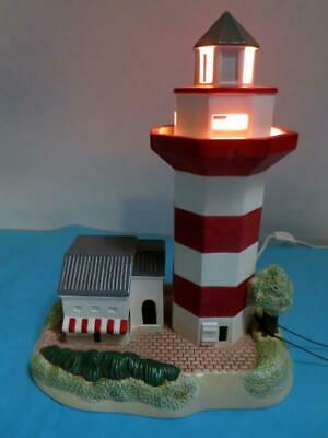 1998 Lefton Lighthouse Lamp Harbour Town Lighthouse, Hilton Head, SC with Tag