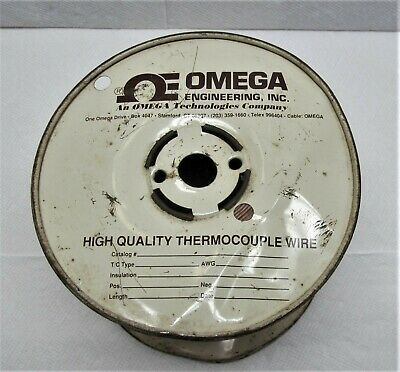 Omega High Quality Thermocouple Wire Part #TFE-J-20-SLE Partial Spool