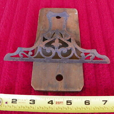 Vintage Victorian Wall Antique Eastlake Cast Iron Spring Paper Holder Clip Store