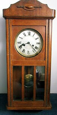 Oak seven day pendulum wall clock