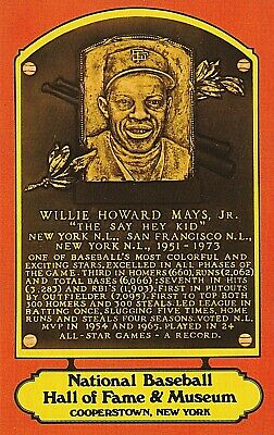Old Postcard Willie Mays  Hall Of Fame  Red Border Rare