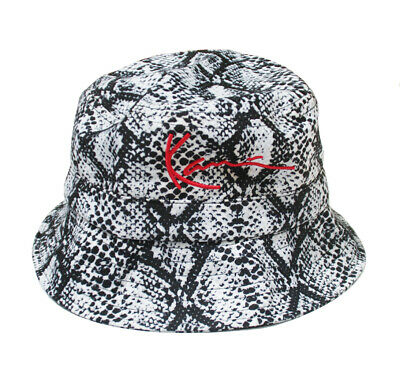 Karl Kani Signature Snake Bucket Hat Black/White/Red