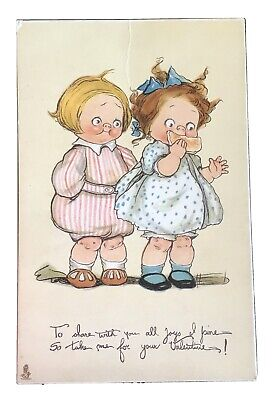 """Vintage Tuck Valentine's Day Postcard - """"To Share With You All Joys"""""""