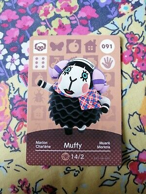 Muffy 091 - Official Animal Crossing Amiibo Card Series 1 New Horizons Unscanned