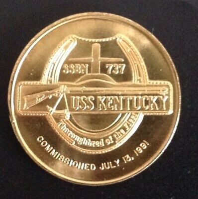 USS Kentucky SSBN 737 Submarine Commissioning Coin USN July 13, 1991