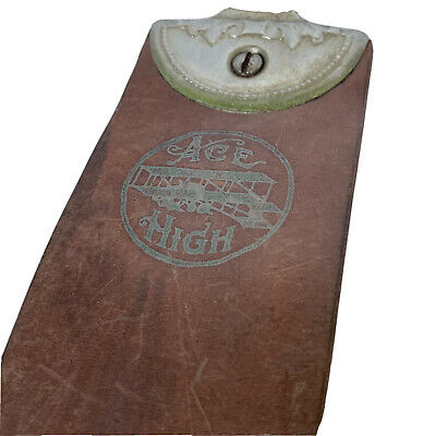 Vintage ACE HIGH Leather Razor Strop Real Edge No 2  1950's