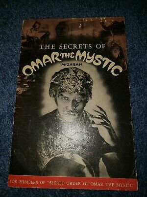 RARE Taystee Bread The Secret's of Omar The Mystic  1936