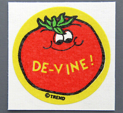 Vintage TREND Matte Scratch and Sniff Stinky Stickers - TOMATO
