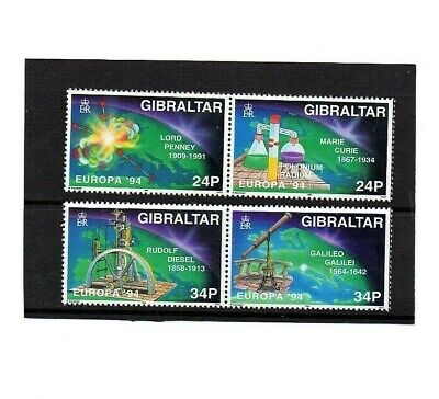 Gibraltar 1994 Europa Scientific Discoveries Set Sg717-720 Unmounted Mint