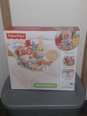 Fisher Price Baby Bouncer Jumper. Animal Party Themed. New.