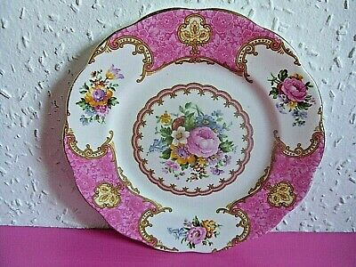 Vintage Royal Albert Lady Carlyle Bone China Side Plate. Pink Floral. 855022