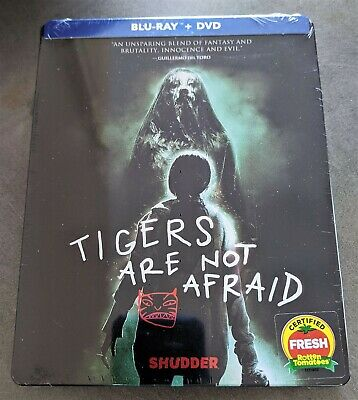 TIGERS ARE NOT AFRAID Blu-Ray + DVD USA Exclusive Limited Edition STEELBOOK