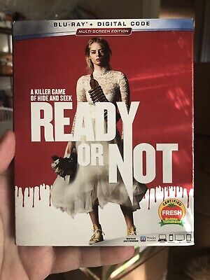 Ready Or Not  Blu-ray With Slipcover (No Digital) Like New.