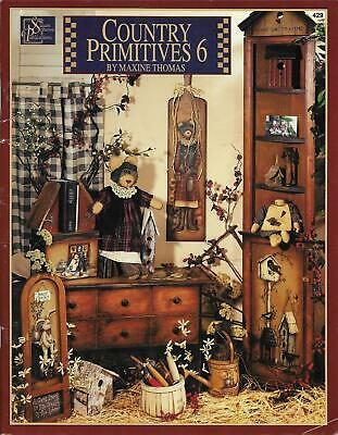 Country Primitives Volume 6 Folk Art Tole Painting Book by Maxine Thomas