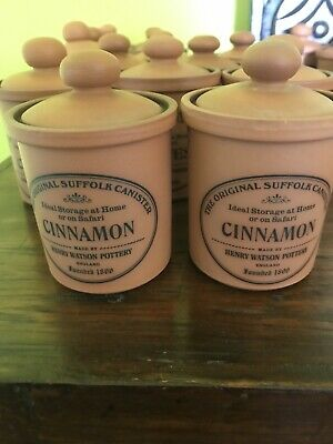 Henry Watson The Original Suffolk Pottery Canister - Cinnamon