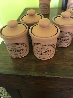 Henry Watson The Original Suffolk Pottery Canister - Bay Leaves
