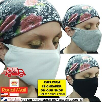 Cotton Face Mask Easy Breathe Reusable Washable Unisex Cycling LOT Protection